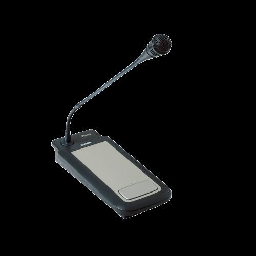 BOSCH Estación de llamadas Plena, Micrófono flexible, Base de metal, Negro - LBB1941/00