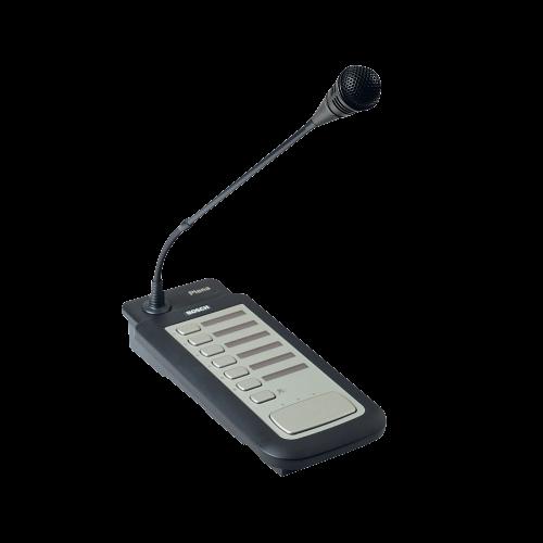 BOSCH Estación de llamadas Plena, Seis zonas, Micrófono flexible, Base de metal, Negro - LBB1946/00