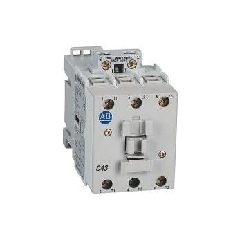 ROCKWELL AUTOMATION Contactor, IEC, 43A, 3P, bobina de 120VAC, contactos auxiliares 1NO - 100C43D10